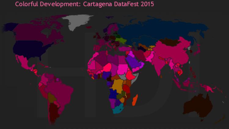 Colorful Development: Cartagena DataFest 2015 World Map