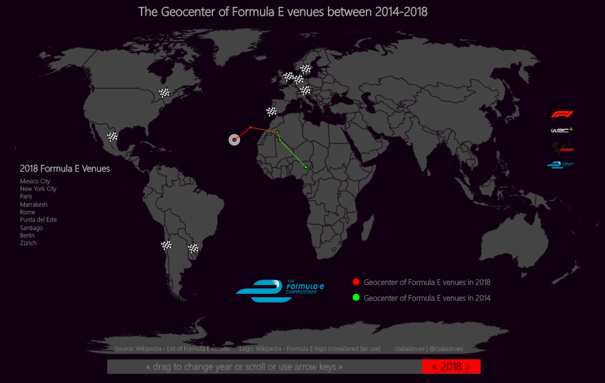 Formula E ePrix around the world
