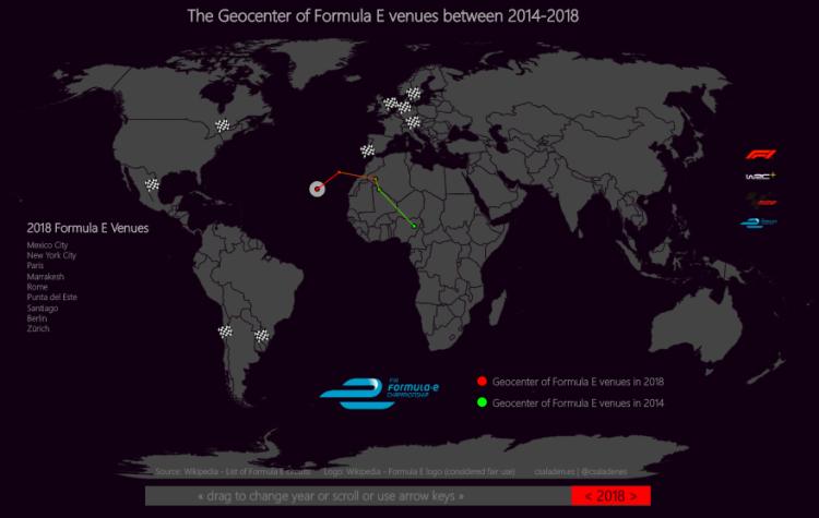 Formula E ePrix around the world