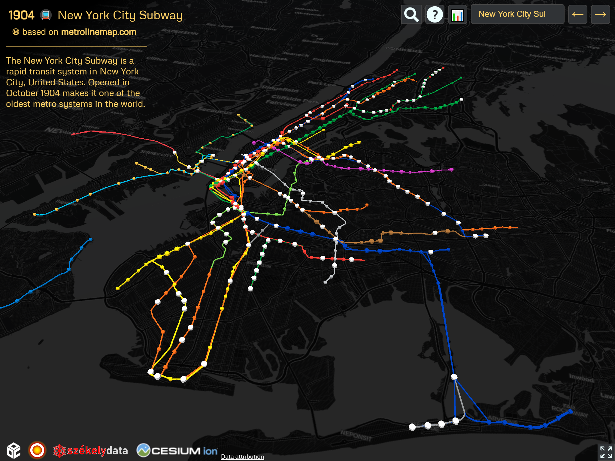New York City and New Jersey transport systems on the OSM version of the 🚇 Metrocyclopaedia
